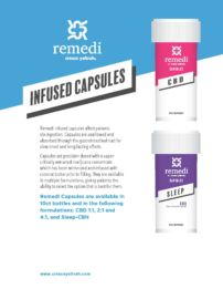 Remedi Capsules are great for patients looking to avoid vaporization consumption methods.