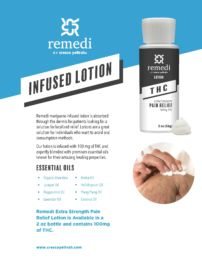 Remedi Lotion is great for patients looking to avoid oral consumption methods.