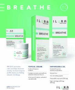 ILERA BREATHE - Topical cream and vaporizable oil