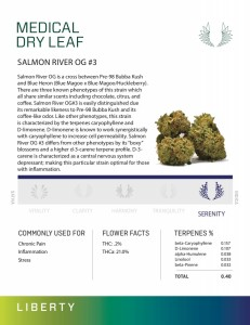 SALMON RIVER OG #3 - Dry Leaf Marijuana